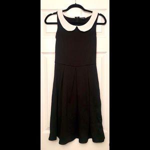 ModCloth | Retro Black Dress with White Collar